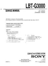 Buy Sony LBT-G3000 Service Information by download Mauritron #237897
