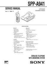Buy SONY SPP-ID975 Technical Info by download #105225