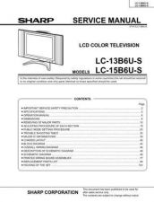 Buy Sharp LC13 15B6US Service Manual by download Mauritron #208981