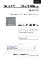 Buy Sharp 21LS90N (1) Service Manual by download Mauritron #207471