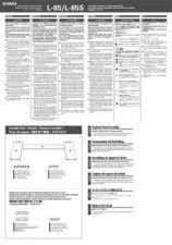 Buy Yamaha L85 EN DE FR ES JA ZH AI A0 Operating Guide by download Mauritron #2483