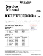 Buy PIONEER KEHP8600RS CRT2194 Technical Information by download #119306