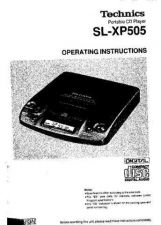 Buy Panasonic SLXP505 Operating Instruction Book by download Mauritron #236513