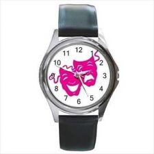 Buy Theater Pink Comedy Tragedy Masks Actress Watch NEW