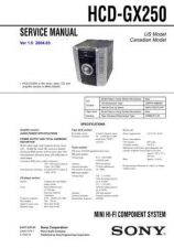 Buy Sony HCD-GX250 Service Manual by download Mauritron #232031
