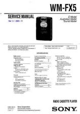 Buy Sony WM-FX495 Service Manual. by download Mauritron #245826