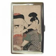 Buy Japanese Women Maiden Japan Art Cigarette Money Credit Card Case