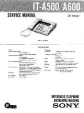 Buy Sony IT-A500-A600 Service Manual. by download Mauritron #241684