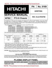 Buy Hitachi 42HDT20 Service Manual CDC-2080 by download Mauritron #262668