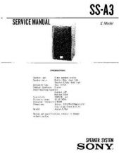 Buy Sony ss-a3b Service Manual. by download Mauritron #244621