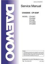 Buy Daewoo TCP830FEF0[1] Manual by download Mauritron #226847