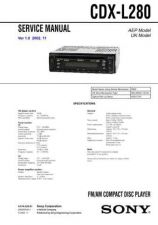 Buy Sony CDX-L250L430X Service Manual by download Mauritron #238592