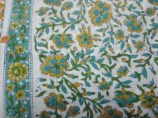 Buy 5Yards Indian Hand Made pure cotton fabric hand block printed sanganeri fabrics