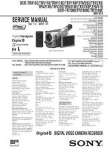 Buy Sony DCR-TRV33-TRV33E-4 Service Manual by download Mauritron #239810