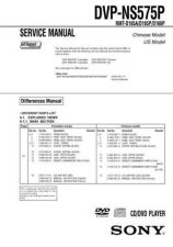 Buy Sony DVP-NS50P-NS41P-NS52P Service Manual by download Mauritron #240513