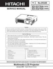 Buy Hitachi edx3280at Service Manual by download Mauritron #262127