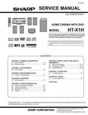Buy Sharp HTX1H Service Manual by download Mauritron #209730