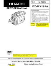Buy Hitachi DZMV350E Service Manual by download Mauritron #261940