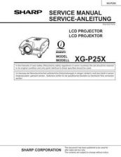 Buy Sharp. XGP25X Service Manual by download Mauritron #211988