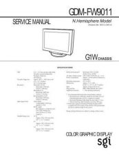 Buy Sony GDM-FW9011 Service Manual by download Mauritron #240808