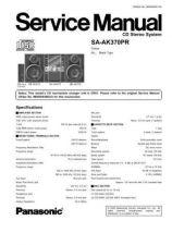 Buy Panasonic sa_ak25_p_pc Service Manual by download Mauritron #268600