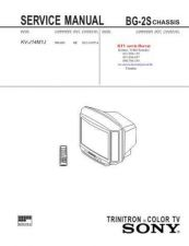 Buy SONY KVJ14M1J CHASSIS BG2S Technical Info by download #104793