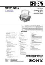 Buy Sony CFD-E75.... Service Manual by download Mauritron #238803