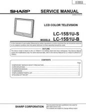 Buy Sharp LC15SH2E (1) Service Manual by download Mauritron #209865