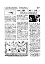 Buy WALTER TAPE DECK by download #109990