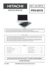 Buy Hitachi SM PDV851S Service Manual by download Mauritron #264180