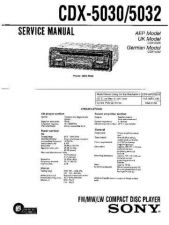 Buy Sony CDX-50305032 Service Manual by download Mauritron #237469