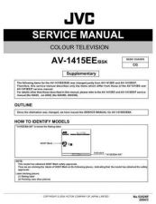 Buy JVC AV-1415EE-BSK Service Manual Schematic Circuit. by download Mauritron #269385