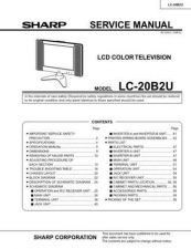 Buy Sharp LC20B4E (1) Service Manual by download Mauritron #209893