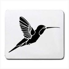 Buy Hummingbird Flying Art Computer Mouse Pad