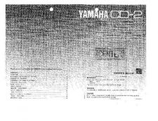 Buy Yamaha CD-2 Operating Guide by download Mauritron #246952