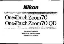 Buy NIKON One Touch Zoom 70 Instruction Manual by download Mauritron #266177