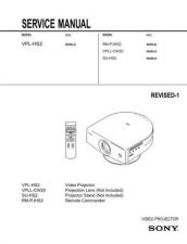 Buy Sony VPL-HS2 Service Manual Service Manual by download Mauritron #241940