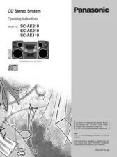 Buy Panasonic SCAK110 Operating Instruction Book by download Mauritron #236400