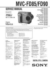 Buy Sony MVC-FD85FD90 Service Manual. by download Mauritron #243013