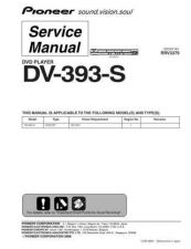 Buy Pioneer dv-393-s Service Manual by download Mauritron #234243