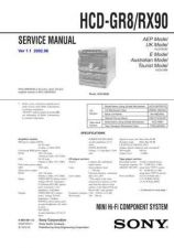 Buy Sony HCD-GR8 Manual by download Mauritron #229139