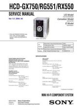 Buy Sony HCD-GX750-RG551-RX550 Service Manual by download Mauritron #232033