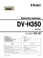 Buy Teac DV-H350 Service Manual by download Mauritron #223711