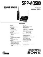 Buy Sony SPP-AQ600 Service Manual. by download Mauritron #244427