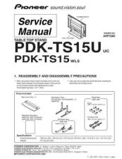 Buy Pioneer PDK-TS15-2 Service Manual by download Mauritron #234705