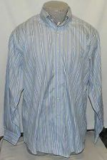 Buy Brooks brothers blue with stripes non iron long sleeve large dress shirt