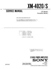 Buy Sony XM-4020S Service Manual. by download Mauritron #245987