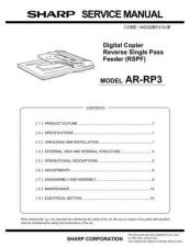 Buy Sharp ARRP6-SP6 Service Manual by download Mauritron #208358