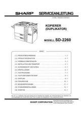 Buy Sharp SD2260 SM DE(1) Service Manual by download Mauritron #210397