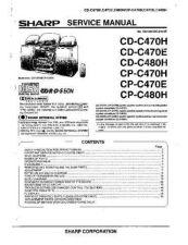 Buy Sharp CDC470E-H-480H-CPC470E-480H Service Manual by download Mauritron #208513